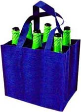 6瓶装无纺布酒袋